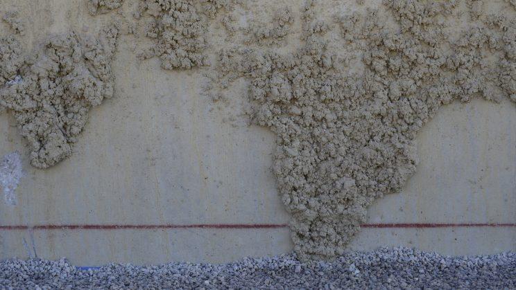 Émergence de l'Afrique dans une projection de ciment. © Laurent Carte